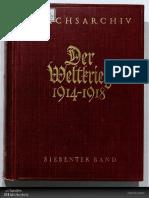 Reichsarchiv - Der Weltkrieg 1914-1918 - Band 07