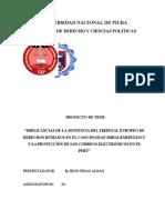 Sentencia Tribunal Europeo en El Peru