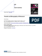 New Theatre Quarterly Volume 14 Issue 53 1998 McAuley, Gay -- Towards an Ethnography of Rehearsal