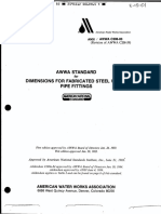 AWWA C208 -83 - Dimensions for Fabricated Steel Water Pipe Fittings
