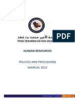 HR Policies and Procedures Manual 2013