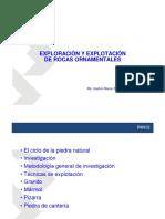 001 Exploración y Explotación de Rocar Ornamentales