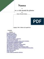 Nanna Ou Sobre a Vida Mental de Plantas -Português-Gustav Theodor Fechner