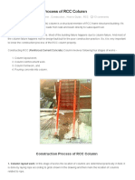 Basic Construction Process of RCC Column _ a Civil Engineer