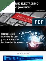 Breve Análisis  - Gobierno Electrónico