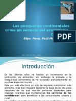 Las Pesquerías Continentales Como Un Servicio Del Ecosistema - Clase 1 - Ciclo 2011 - II