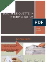 Booth Etiquette in Interpretation