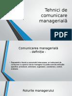 Tehnici de Comunicare Managerială