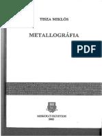 Tisza Miklós - Metallográfia