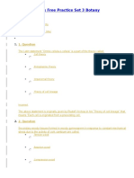 NEET Model Papers Free Practice Set 3 Botany