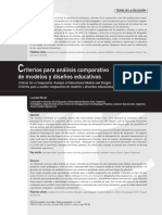 Criterios Para Análisis Comparativo de Modelos y Diseños Educativos. Lourdes Morán