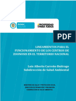 Lineamiento Funcionamiento Centros Zoonosis Territorio Nacional