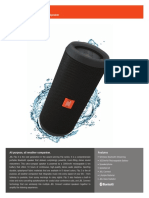 Specification Sheet - JBL Flip 3 (English)