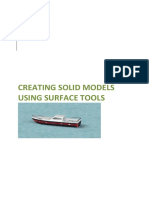 Creating Solid Models From Surface Models Using Solidworks 2015c