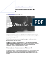 Cómo Desbloquear El Tema Oscuro de Windows 10