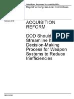 Acquisition Reform 2015 - GAO