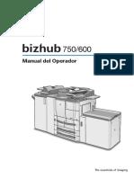 Bizhub 750 600 Manual Del Operador Es
