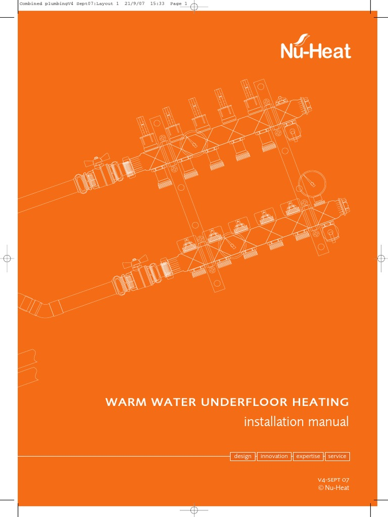 Nu Heat Underfloor Heating Wiring Diagram Source A Thermostat To Install Manual Pdf Water Section