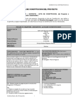 Acta de Constitucion - Project Charter - Estatuto