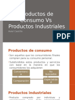 Productos de Consumo Vs Productos industriales
