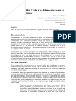 Ética Periodística Frente a Las Interceptaciones en Las Comunicaciones