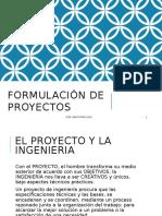 Formulación de Proyectos Una