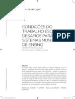 Lisboa e Andrea. Condições Do Trabalho Escolar; Desafios Para Os Sistemas Municipais de Ensino