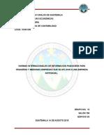 Normas Internacionales de Información Financiera Para Pequeñas y Medianas Empresas Que Se Aplican a Una Empresa Artesanal