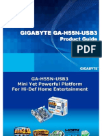 Gigabyte GA-H55N-USB3 mini-ITX Product Guide