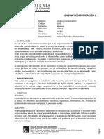 Programa de Lenguaje y Comunicación I