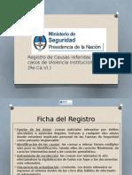 Presentación Del Sistema de Relevamiento de Datos de Violencia Institucional