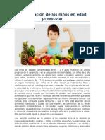 Alimentación de Los Niños en Edad Preescolar Jpczd