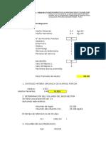 Cálculo Biodigestor 3000 Litros