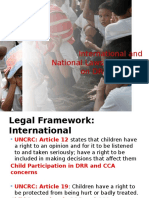 DRR and CCA Legal Framework
