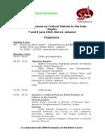 Beirut Conference Program ENG