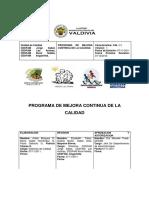 Plan de Calidad 2011 - 2012