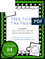 Telling Time Puzzles (1)