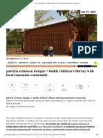 patricia erimescu designs + builds children's library with local tanzanian community