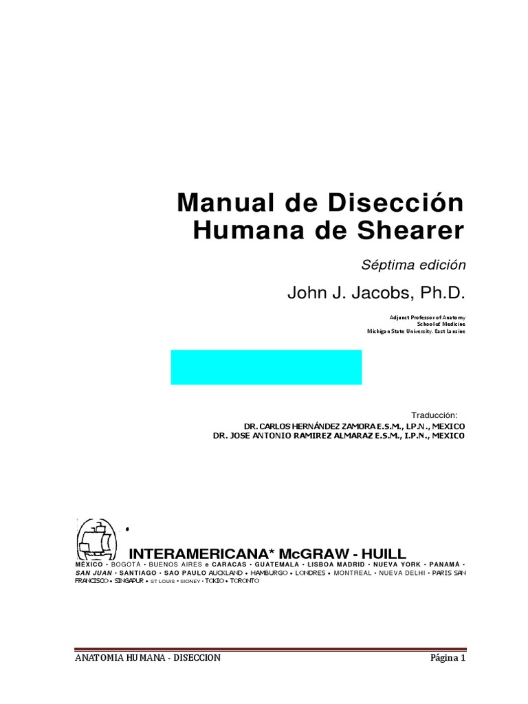 Manual de Diseccion Humana - Shearer.pdf