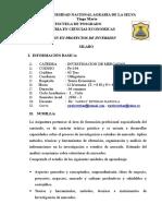 Silabo Investigacion de Mercados 2015
