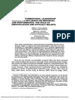 Transformational Leadership and Individual Job Performance