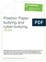 Bullying Position Paper