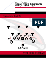 9 Man Wing T Offense Playbook Quarterback American Football
