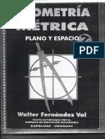 GEOMETRIA METRICA Plano y Espacio Walter Fernandez Val