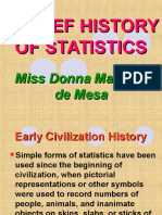Brief History of Statistics