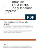 Programas de Apoyo a La Micro, Pequeña