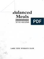Balanced Meals With Recipes Food Values Drying and Cold Pack Canning