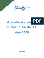 Gabarito ITA 2000