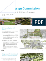 Presentation - Seattle Design Commission - SR 520 Montlake Lid Report