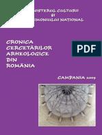 Cronica cercetărilor arheologice din România
